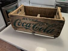 Vintage COCA-COLA Wooden Crate Box French RARE