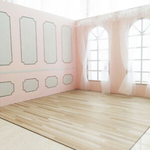 Wood Floor DIY Material Dollhouse Miniature PVC Imitation Wood Grain Floo*CI