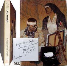 Jean le Gac Le peintre blessé 1988 Davvetas Marcadé envoi signé à Dagbert carton