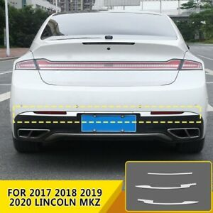 FOR 2017 2018 2019 2020 Lincoln MKZ Stainless Chrome Rear Bumper cover Trim 3PCS