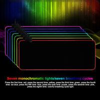 Mousepad Non-skid Base RGB Colorful LED Lighting Keyboard Mat Gaming Mouse Pad