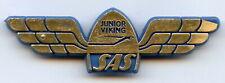 Scandinavian Airlines System SAS Junior Viking Pilot Vintage Plastic Pin Badge