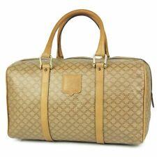 Sale! Auth CELINE Vintage Macadam PVC Leather Mini Boston Hand Bag 8890b