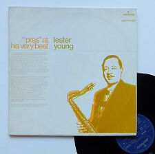 """Vinyle 33T Lester Young  """"Pres at his very best"""""""