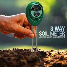 Moisture Sensor Meter Soil Water Monitor Hydrometer Garden Farming Plant Flowers