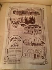 Vintage Retro Tea Towel Morpeth Hunter Valley Souviner Linen Cotton Unused