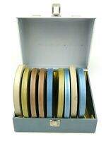 Vintage Tin Movie Reel Canisters with Smith-Victor Storage Case