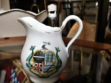 COLLECTABLE VINTAGE CRESTED WARE GILDED CREAM JUG DERBY ILFRACOMBE
