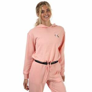 Women's Calvin Klein Lounge Relaxed Fit Hoodie Sweatshirt in Pink