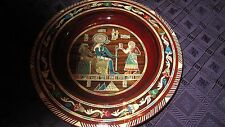 New listing Wood plate with Egyptian inlays