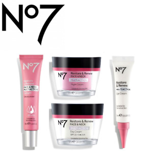 No7 Restore and Renew & Neck Multi Action DAY-NIGHT-EYE Cream + Serum