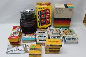 Vintage Camera, Film, Bulbs & A Lot More Bundle Lot