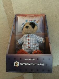 SLEEPY OLEG MEERKAT TOY BRAND NEW IN BOX LIMITED EDITION WITH CERTIFICATE