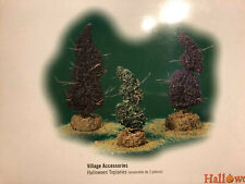 Dept. 56   Village Accessories  Halloween Topiaries    set of 3    NIB