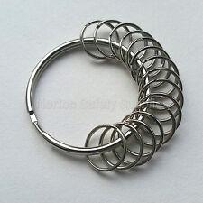 Large (58mm) 15 x Multi-Ring Jailers Fob / Keyring / Split Ring (FREE P&P)