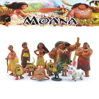 12pcs Movie Moana Action Figure Dolls Princess Sets Toys PVC Kids Baby Bday Gift