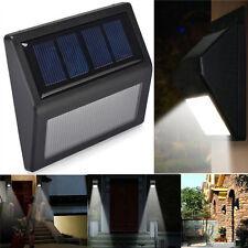 Solar 6 Led Escaleras Luz Al Aire Libre Jardín Yarda Césped De Pared Lámpara