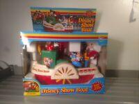 Vintage Disneyland Playmates Battery Operated Disney Show Boat 1986 Untested