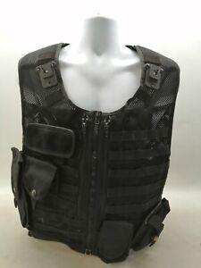 Molle Tactical Utility Vest Black Uniform Patrol Duty Security Safety Officer