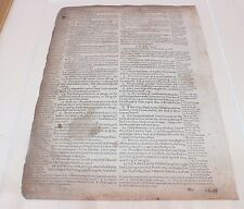 Geneva bible 2 pages displayed in frame 1608 Robert Barker London Antique Isiah