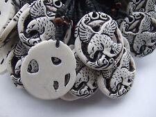 Wholesale 12 Pcs/lot Tribal Yak Bone Resin Carve Totem Eagle Pendants Necklace