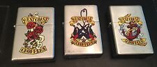 3) 2007 Limited Edition West Coast Choppers Zippo Lighter Lot Unused Set 3