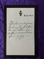 1894 Queen Victoria handwritten letter from Balmoral Castle
