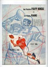San Francisco 49ers v Los Angeles Rams **VTG** 1960 Program  Brodie Ollie Matson