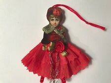 Paper doll Vintage inspired Christmas or Valentine ornament item# 18 Victorian