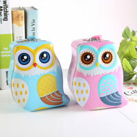 Owl Piggy Bank Cartoon Creative Money Saving Box Coin Storage Case with Lock