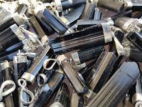 Turmalin Spitzen - Anhänger Schwarz - mit Silber -Kristall aus Afghanistan