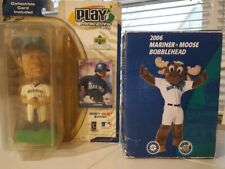 MLB Baseball Seattle Mariners Ichiro & Mariner Moose Bobbleheads.  See Pictures
