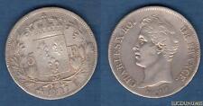 Charles X , 1824 - 1830 - 2nd Type d'effigie - 5 Francs 1827 B Rouen TB TTB
