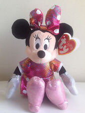Minnie Mouse Beanie Baby - Disney Sparkle Tie Dye Dress and Bow - Pink Shoes