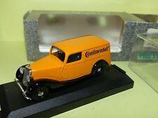 MERCEDES 170 VAN CONTINENTAL Orange VITESSE 290.7 1:43