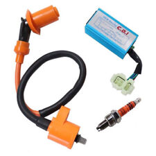 Racing Ignition Coil+Spark Plug+CDI Box For GY6 50cc-150cc 4-Stroke Engines ts