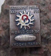 1986 FIS Skiing Federation World Cup Czechoslovakia Tatra Mountains Pin Badge