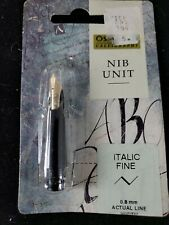 Osmiroid Calligraphy Easy Change NIB Unit B2 22 Carat Gold Plated 1.4 mm