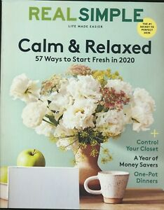 REAL SIMPLE Magazine January 2020 Issue New Unread Pure Joys of Summer