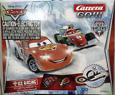 CARRERA 62360 GO !!! DISNEY PIXAR ICE RACERS NEW 1/43 GO SLOT CAR RACING SET