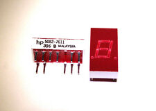 1x NOS Hewlett Packard (HP) 5082-7611 Red 7-Segment LED Numeric Display