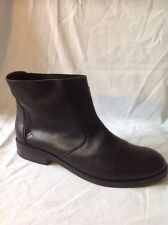 Mango Black Ankle Leather Boots Size 39