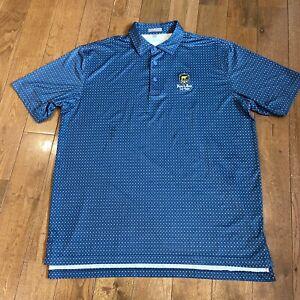 Mens Peter Millar Summer Comfort Golf Polo Shirt Bear's Best Las Vegas Blue XL