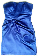 Women Size 7 Teeze Me Mini Cocktail Party Homecoming Dress Strapless Bodycon Blu