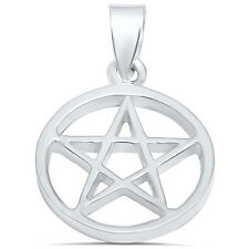 Star in a Circle .925 Sterling Silver Pendant