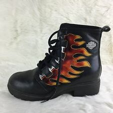 Harley Davidson  Motorcycle Womens Boot SINGLE Left Shoe 6 Flame Leather Riding