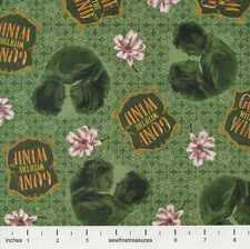 Gone With The Wind LOGO VIGNETTES GREEN Magnolia Fabric By the FQ - 1/4 YD