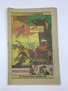 ASTERIX #5B Turkish Comic Book 1980s ULTRA RARE Asteriks TERCUMAN Rene Goscinny