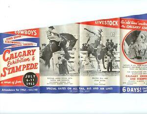 Calgary Stampede VF 1953 Stampede brochure. Pls see description. Clean copy