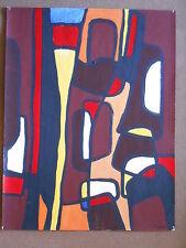 PETRA  Tableau Cubiste acrylique sur papier 50 cm x 65cm -
